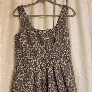 Formal Lace Print Cocktail Dress